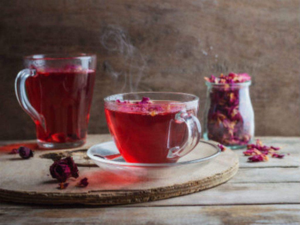 benefits of Rose tea consumption