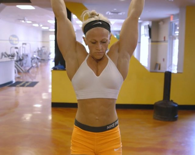 strong female body builder -kira neuman