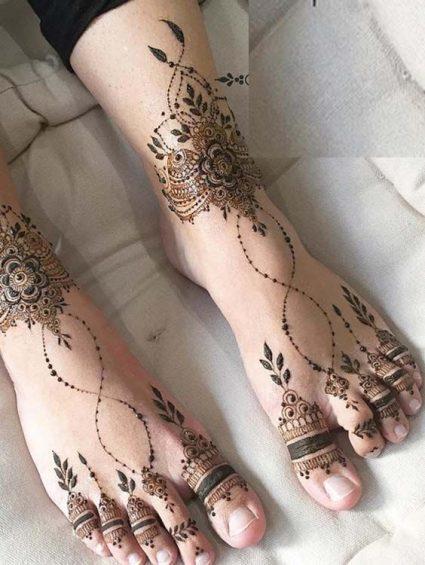 Bridal leg design mehndi a