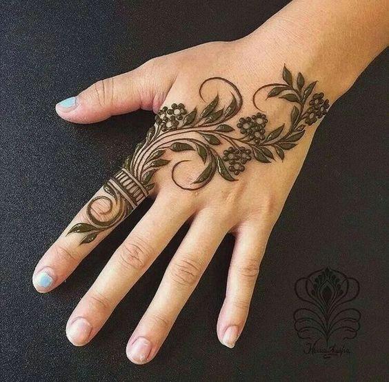 European henna design b