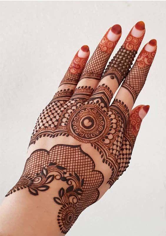 European henna design d