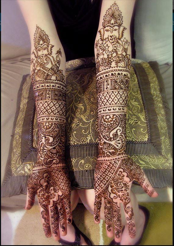 Indian Bridal Full hand Mehendi Design