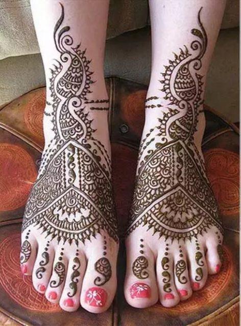 Indian Bridal Mehandi Design