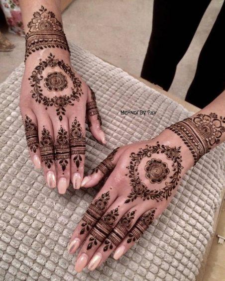 Kashmiri Mehndi designs - round