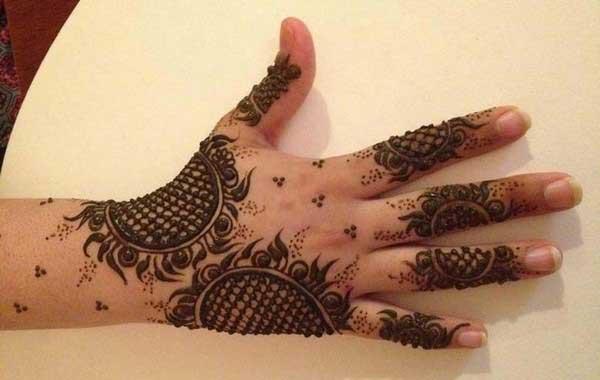 Kashmiri mehndi design 2. simple and easy hand