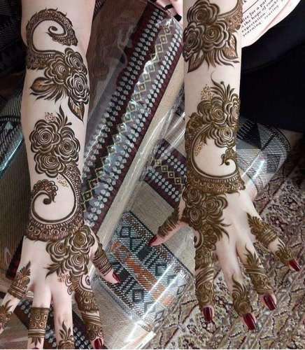 latest bridal full hand mehndi (henna)designs