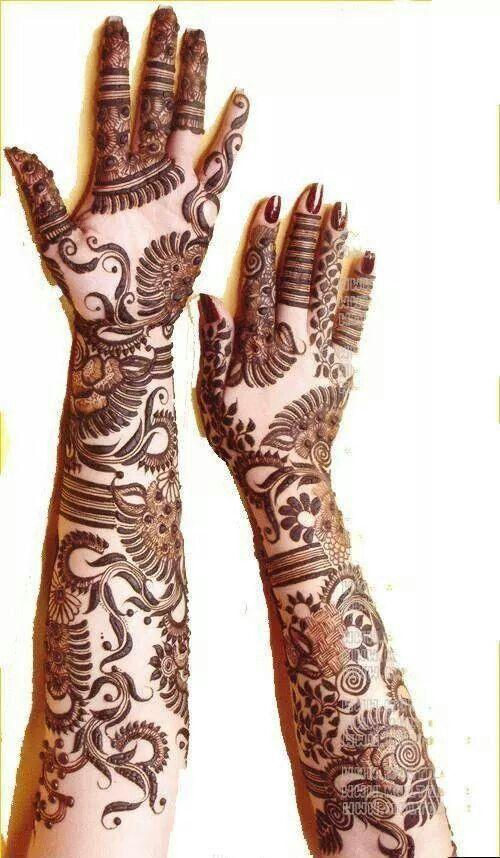 Mehandi - Russian bridan full hand mehandi design