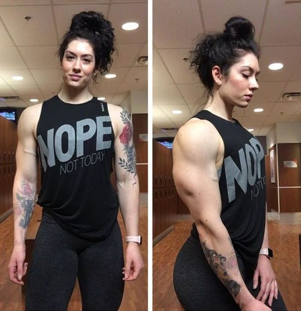 Natasha Aughey Female body builder