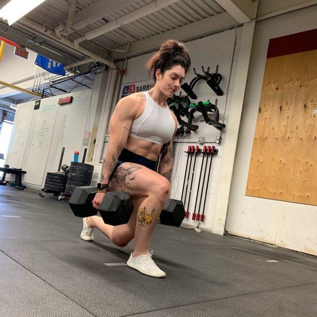 Natasha Aughey Leg day work out