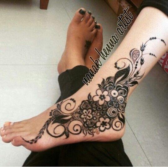bridal leg design mehndi c