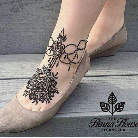 bridal leg design mehndi f