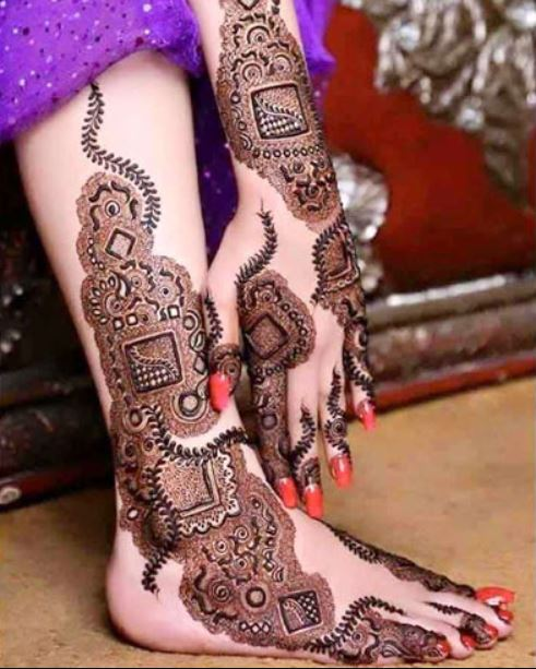 kashmiri latest mehndi design