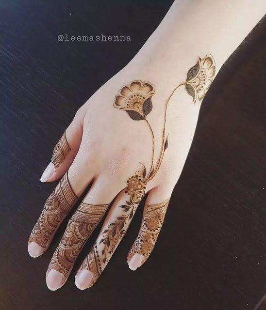 unique mehndi designs for fingers
