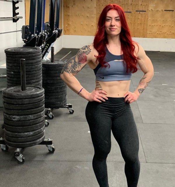 natasha aughey pic in gym