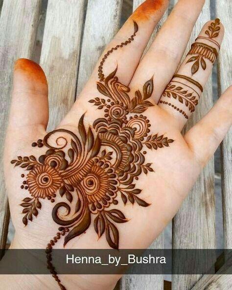 pakistani floral mehndi design