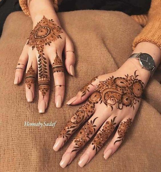 top finger mehndi designs