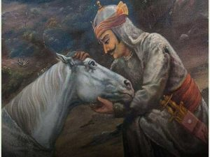 Maharana Pratap at chetak death