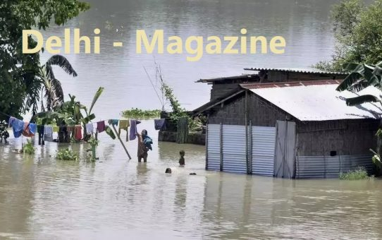 Heavy Loss by Flood in Assam and Bihar