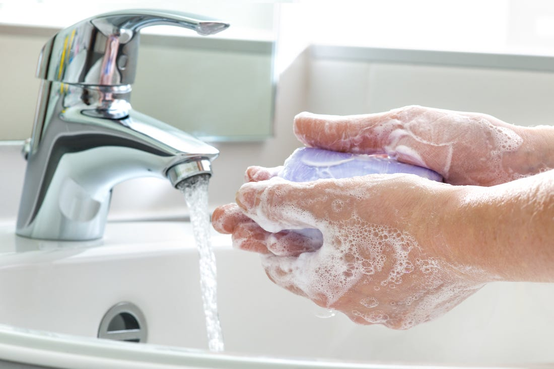 Hand wash with soap