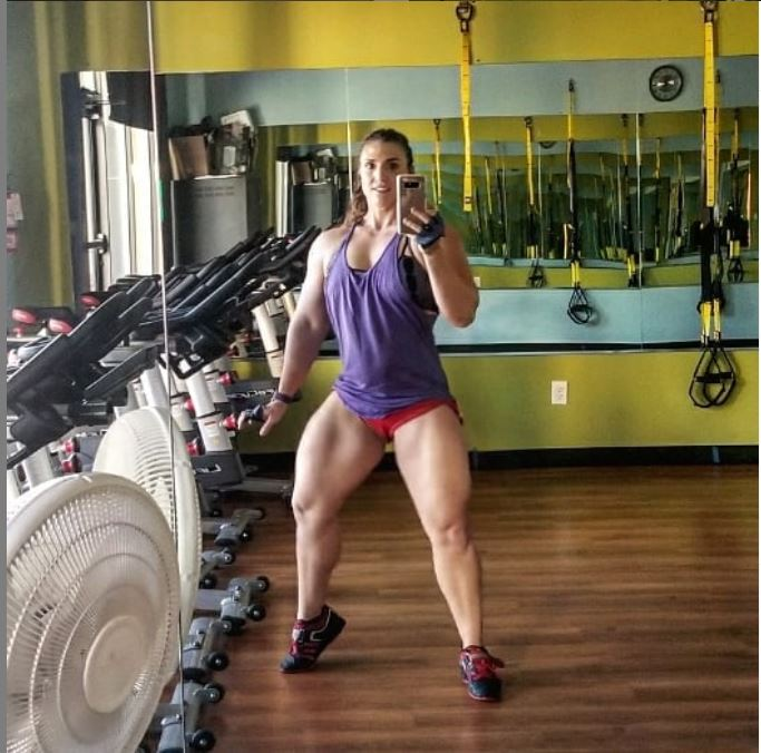 Kaitlyn Vera after leg day work out