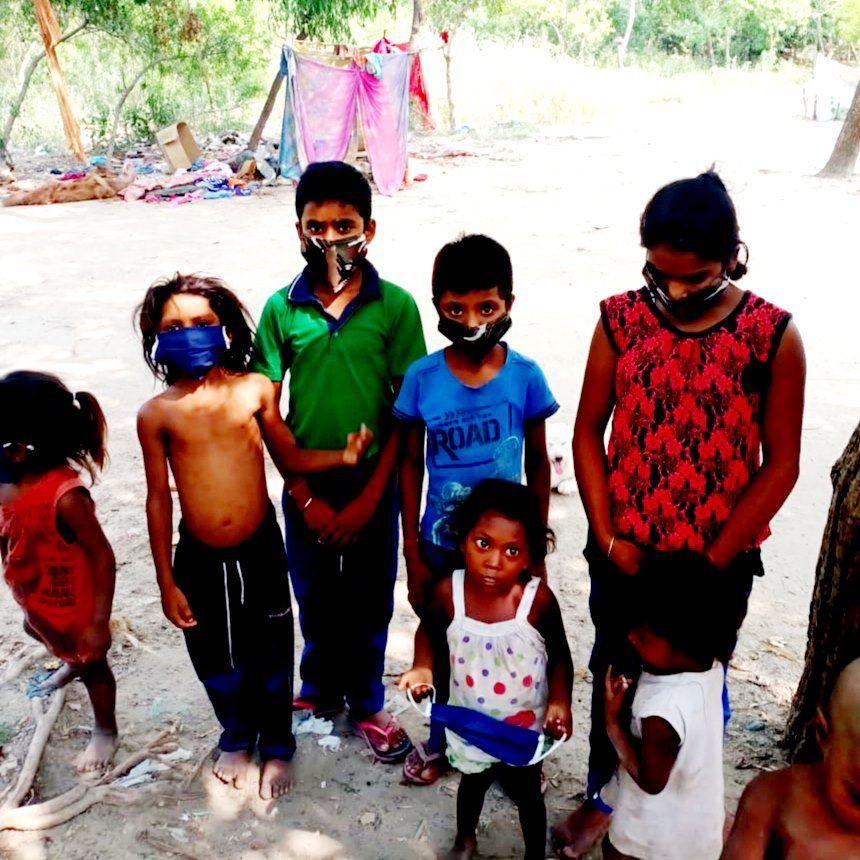 Sabhaytaa Foundation members helping children