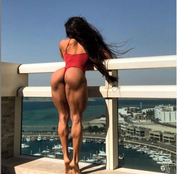 Bakhar Nabieva's booty and leg muscles