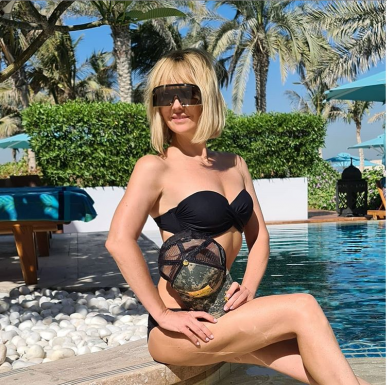 Alla Perfilova aka Alla Perfilova Posted a Photo in a Bikini