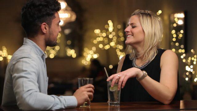 love couple at bar