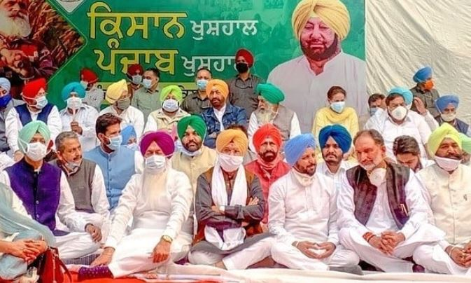 Amrinder singh support Agricultural law