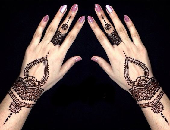 latest henna designs for back hands for beginners