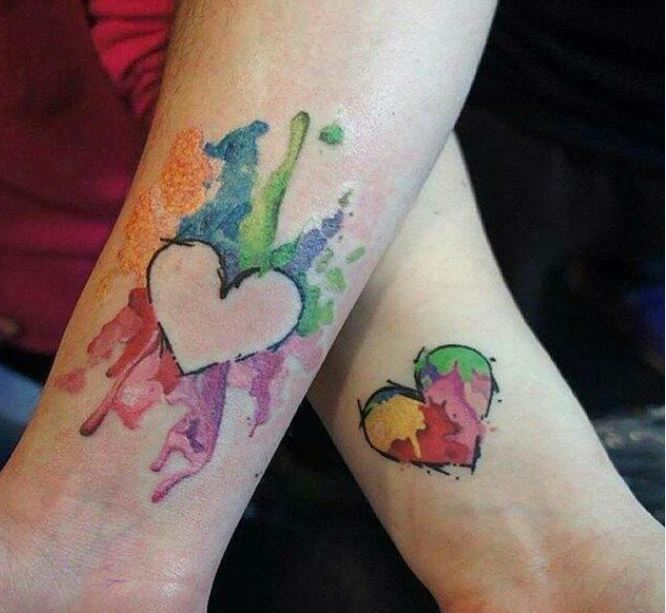 Heart tatto ideas for couple 1