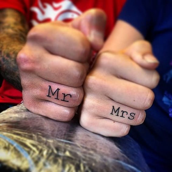 Mr-And-Mrs.-Tatto-On-Fingers for couples