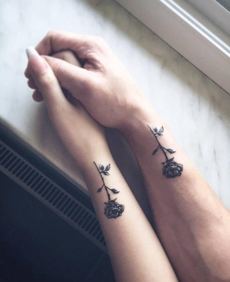 Rose tattoos for couples