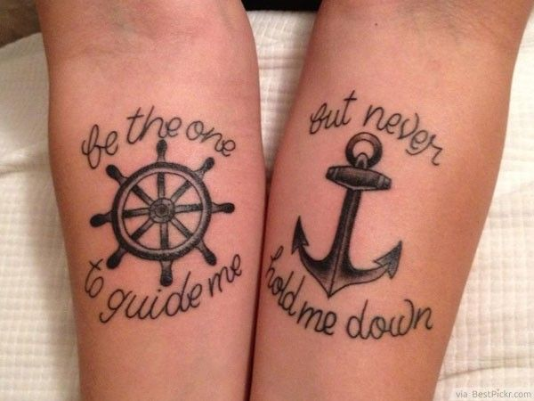 anchor tattoo designs for couples