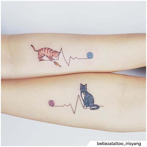 animal tattoo ideas -cat