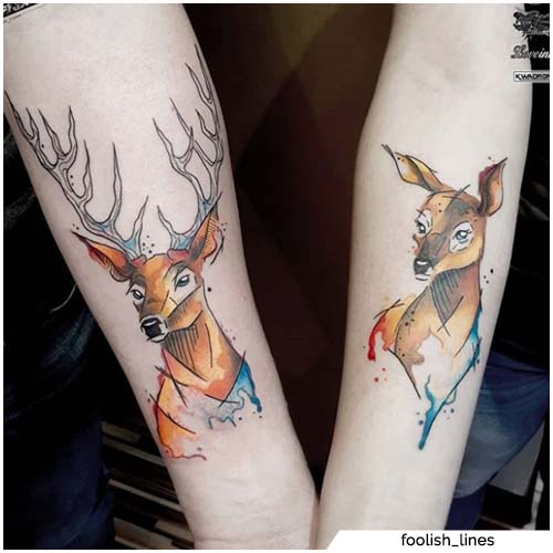 animal tattoo ideas -deer