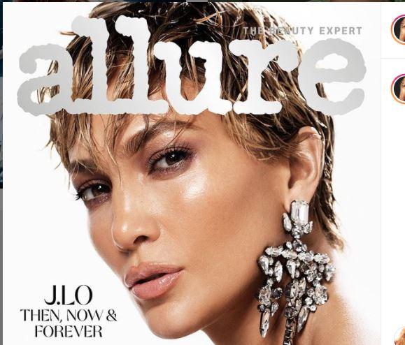 Jennifer Lopez on allure cover