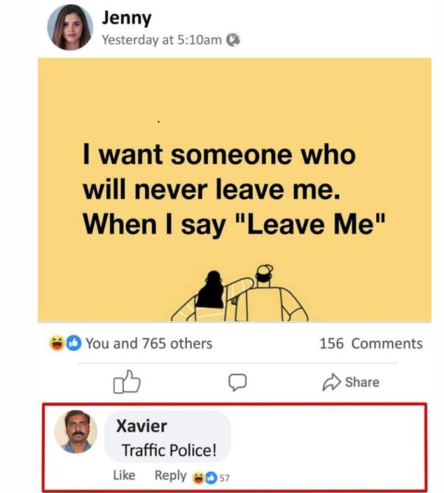 funny reply by Xavier
