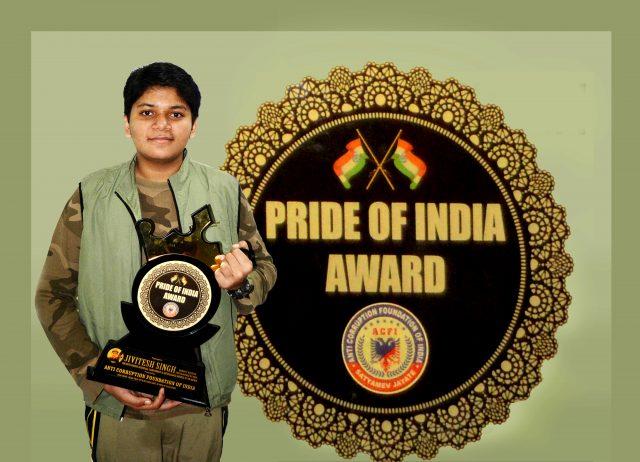 Jivitesh singh with award pride of india