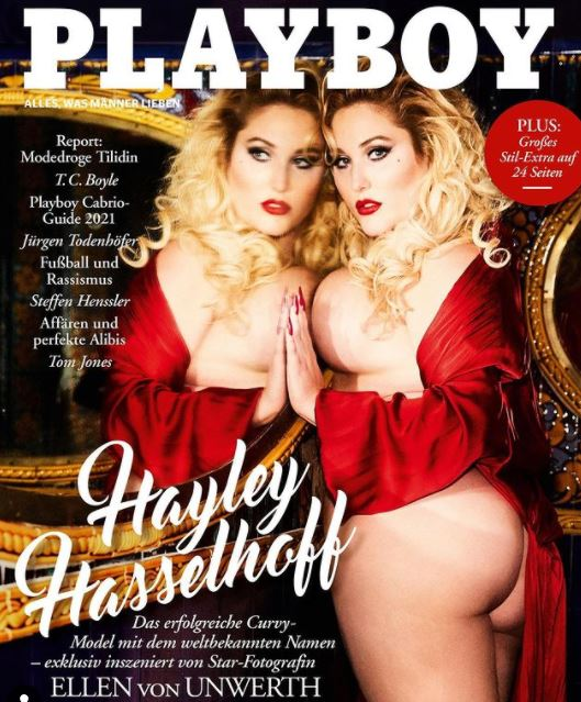 play boy curvy model on cover page