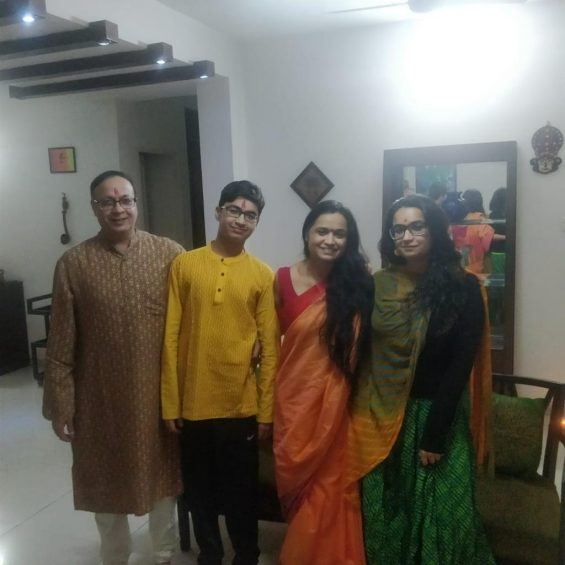 Dr. Aruna Kalra with her family