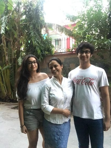 Dr. Aruna with her kids