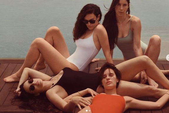 demi moore and her daughter in swimsuite ad