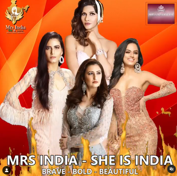 Mrs India – She Is India, the Official National Preliminary to the Prestigious Mrs Universe Pageant to be held in Gurgaon From August 17th- 22nd, 2021