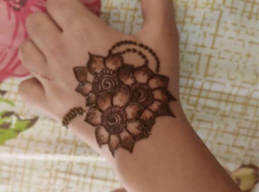 Shaded Mehndi design 2 for teej festival