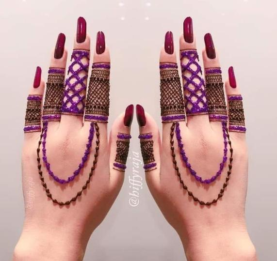 Glitter mehndi designs for teej