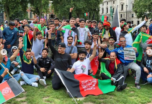 Afganistani protested in London