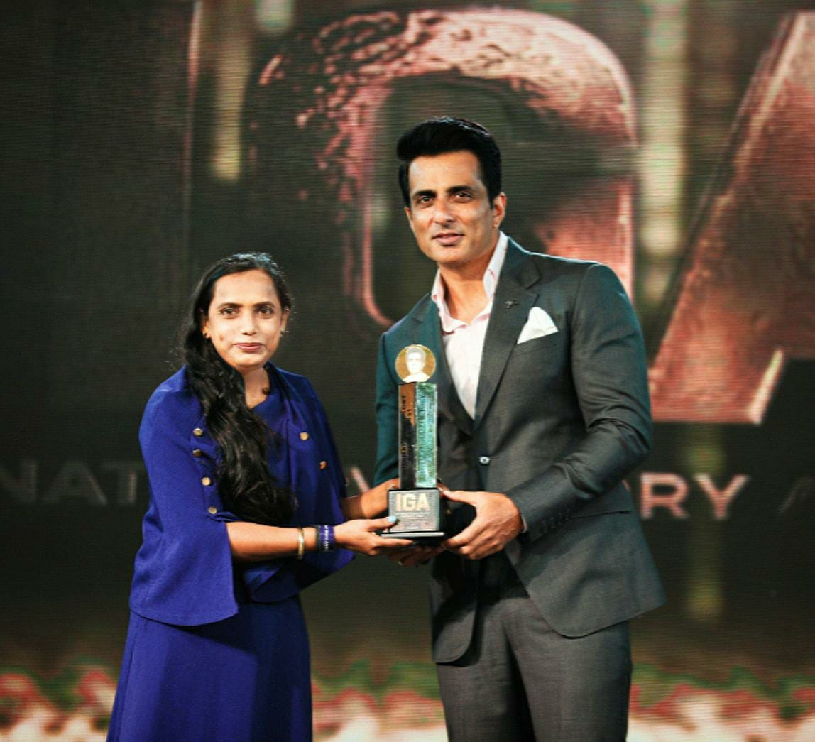 Shakti Rajput, a Well Known Social Worker Awarded and Honoured for Best Social Worker for Women and Child Welfare by Sonu Sood